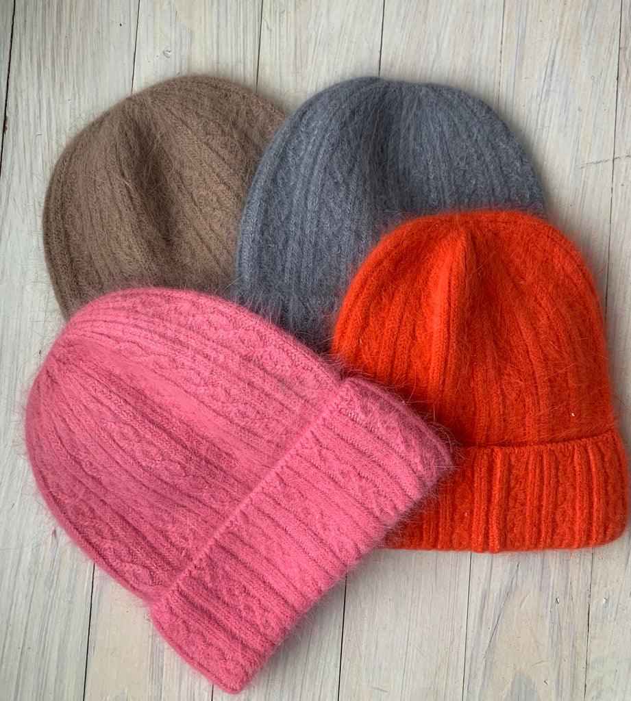Super Soft Mini cable cashmere Beanie