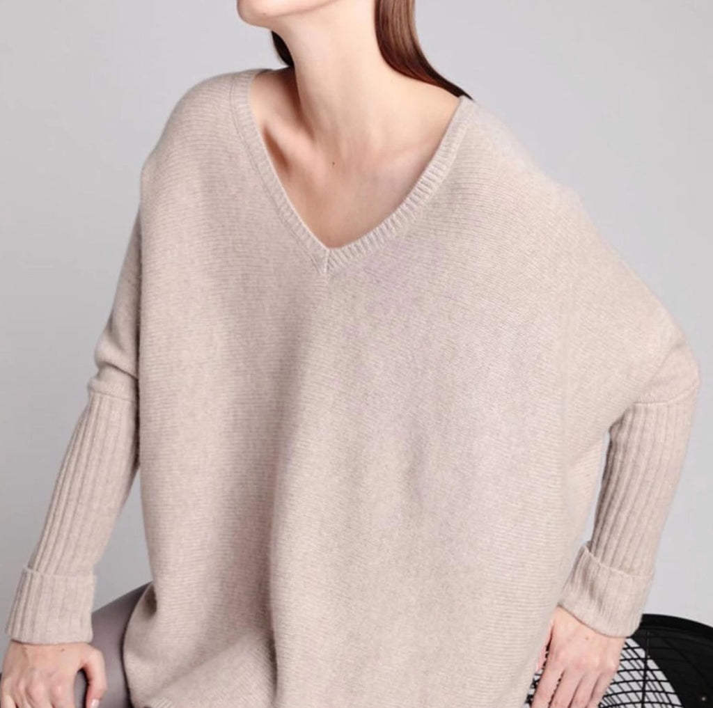 100% cashmere Oversized V ( 10 colors)