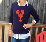 New England classic Lobster sweater NOW in XL - Pink Pineapple Shop