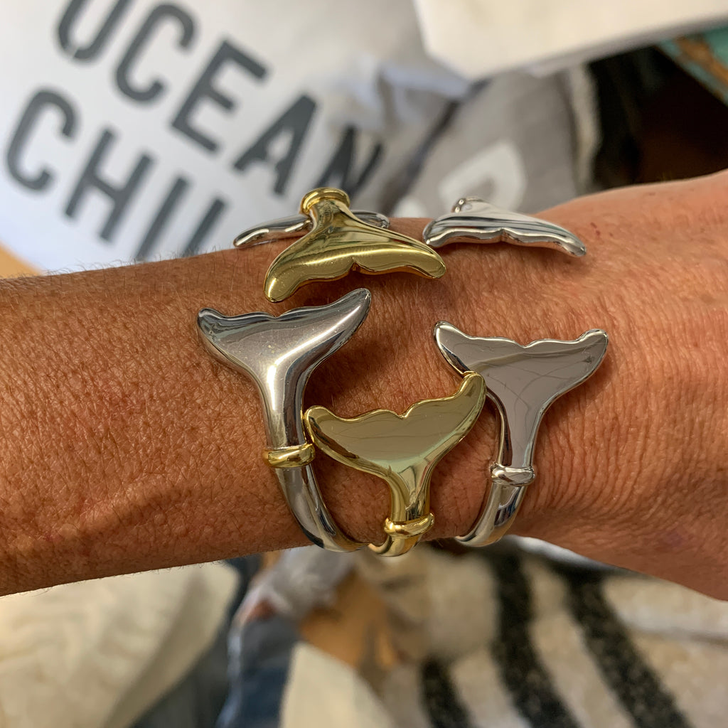 Brass Whale Tail Bracelet