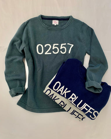 02557 Oak Blffs Zip Sweater