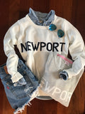 Newport Beach House Sweater White