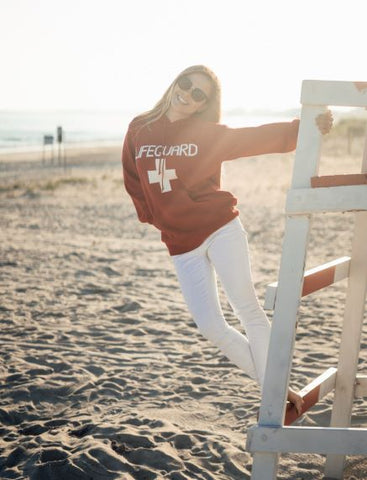 RED LIFEGUARD hoody SWEATER