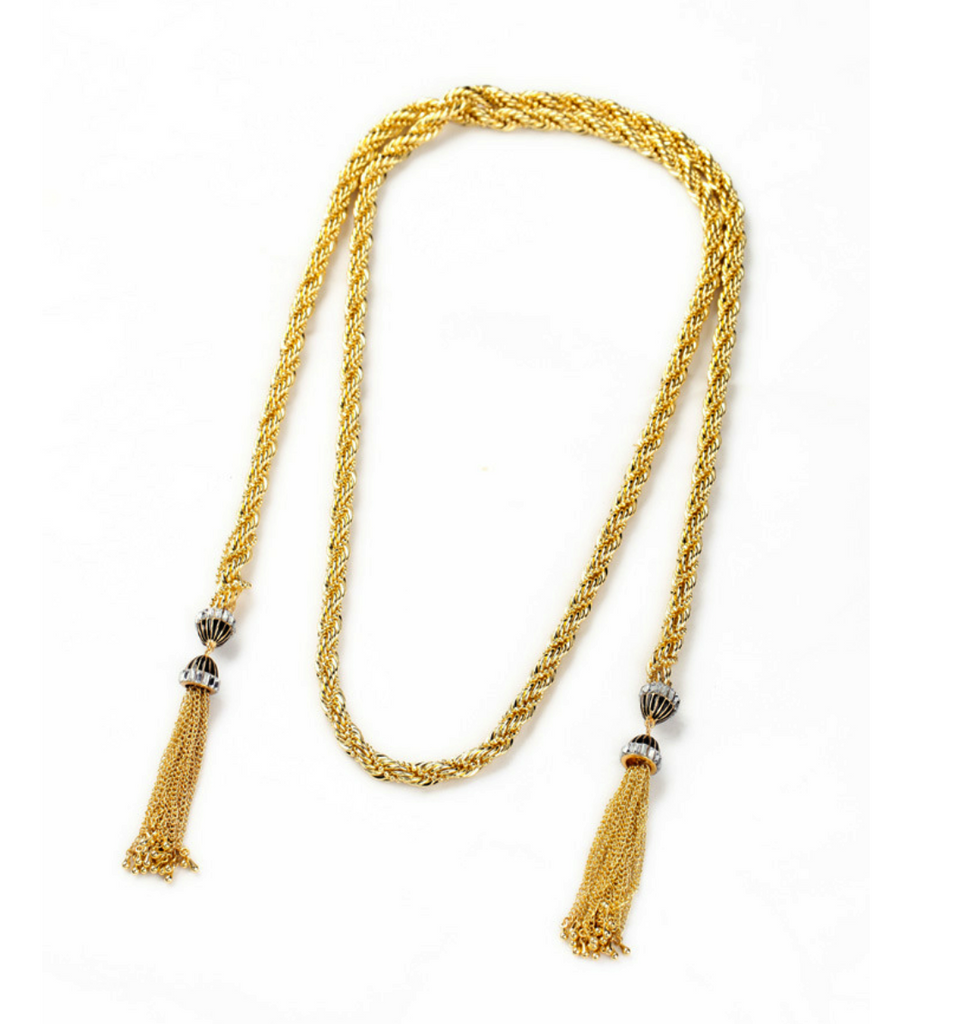 Long Rope tassel necklace