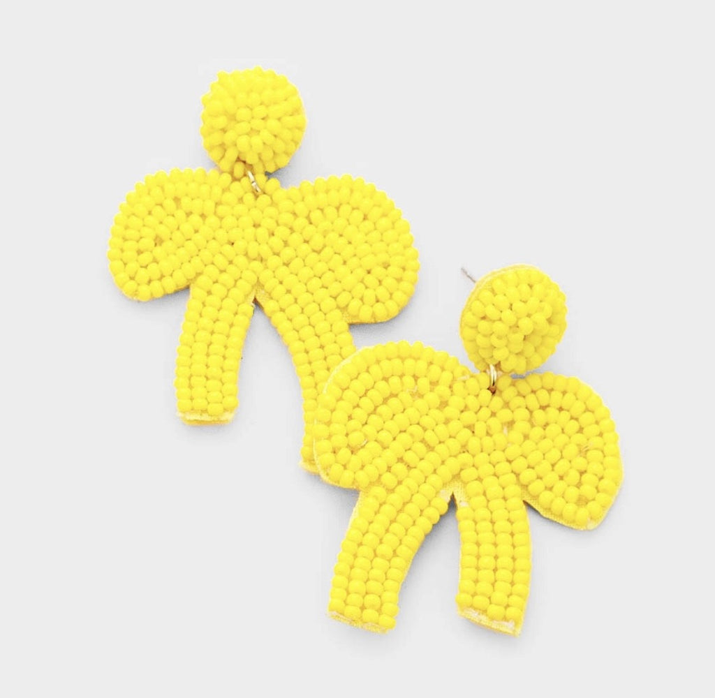 FiFi beaded bow earring YELLOW