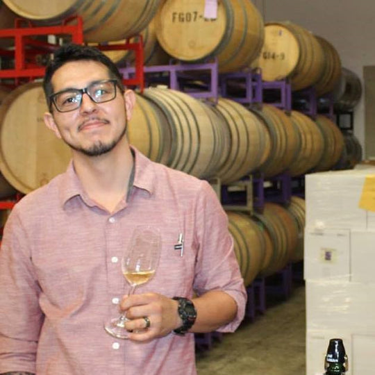 picture of Andre Baltazar in the winery