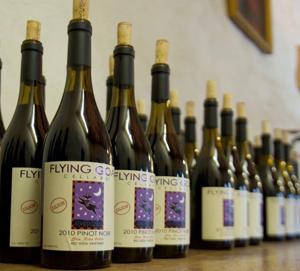 Flying Goat Dijon Pinot Noir Bottles