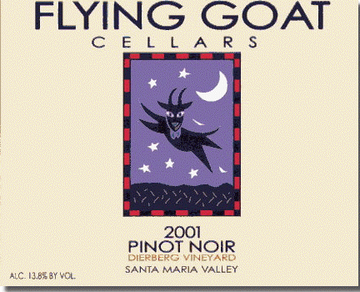 2001 Pinot Noir, Dierberg Vineyard Label Image