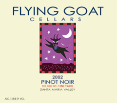 2002 Pinot Noir, Dierberg Vineyard Label Image