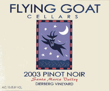 2003 Pinot Noir, Dierberg Vineyard Label Image