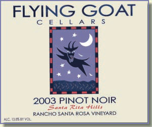 2003 Pinot Noir, Rancho Santa Rosa Vineyard Label Image