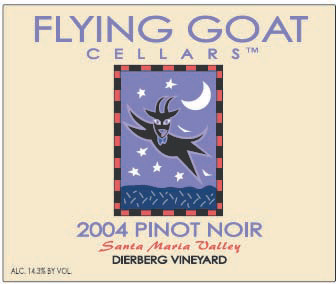 2004 Pinot Noir, Dierberg Vineyard Label Image
