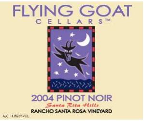 2004 Pinot Noir, Rancho Santa Rosa Vineyard Label Image