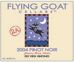 2004 Pinot Noir, Rio Vista Vineyard Clone 2A Label Image