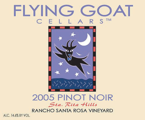 2005 Pinot Noir, Rancho Santa Rosa Vineyard Label Image