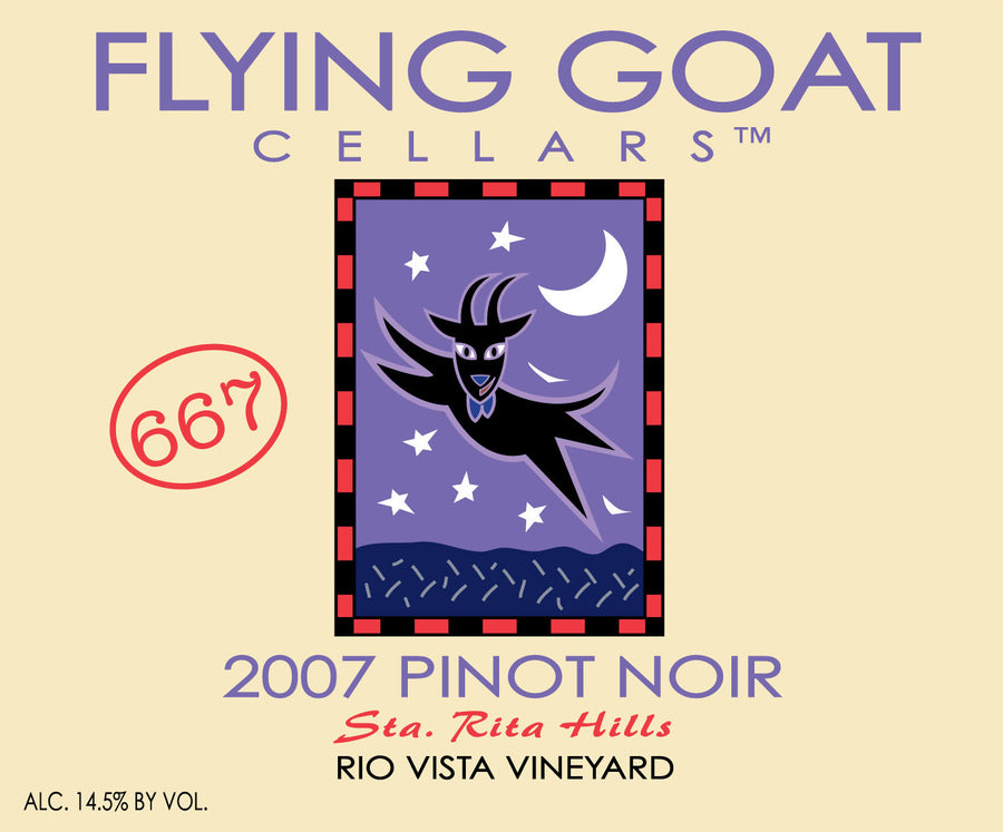 2007 Pinot Noir, Rio Vista Vineyard Clone 667 Label Image