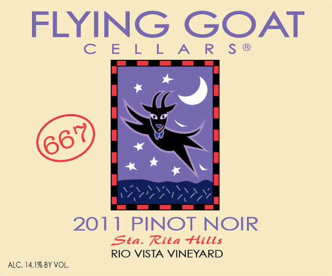 2011 Pinot Noir, Rio Vista Vineyard Clone 667 Label Image