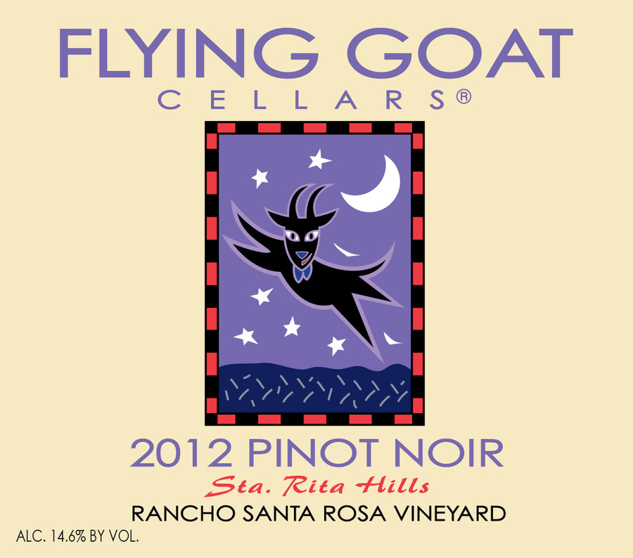 2012 Pinot Noir, Rancho Santa Rosa Vineyard Label Image