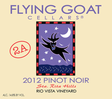 2012 Pinot Noir, Rio Vista Vineyard Clone 2A Label Image
