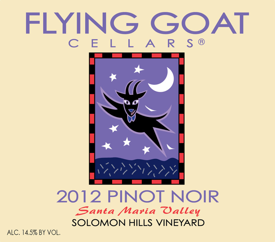 2012 Pinot Noir, Solomon Hills Vineyard Label Image