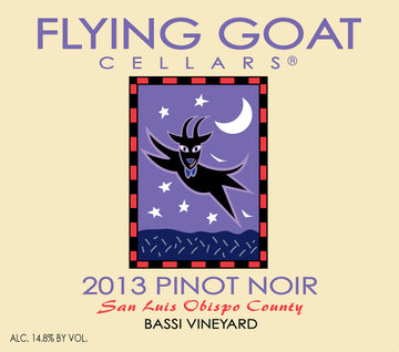 2013 Pinot Noir, Bassi Vineyard Label Image