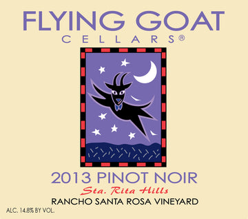 2013 Pinot Noir, Rancho Santa Rosa Vineyard Label Image