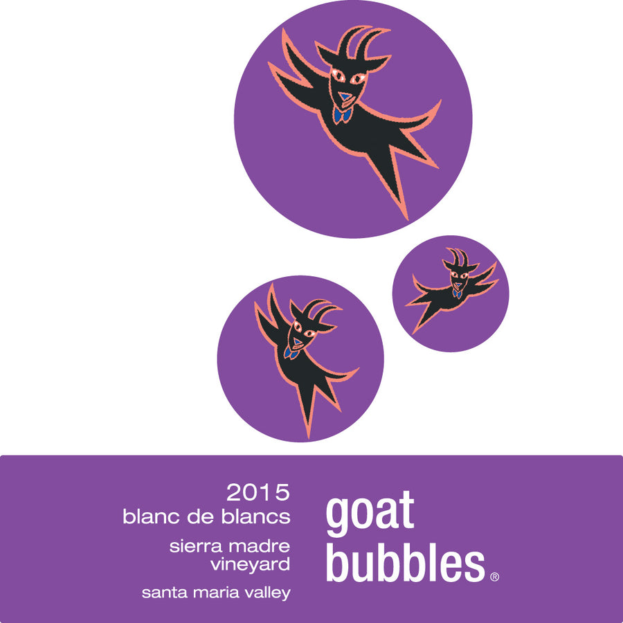2015 Goat Bubbles, Blanc de Blancs Label Image
