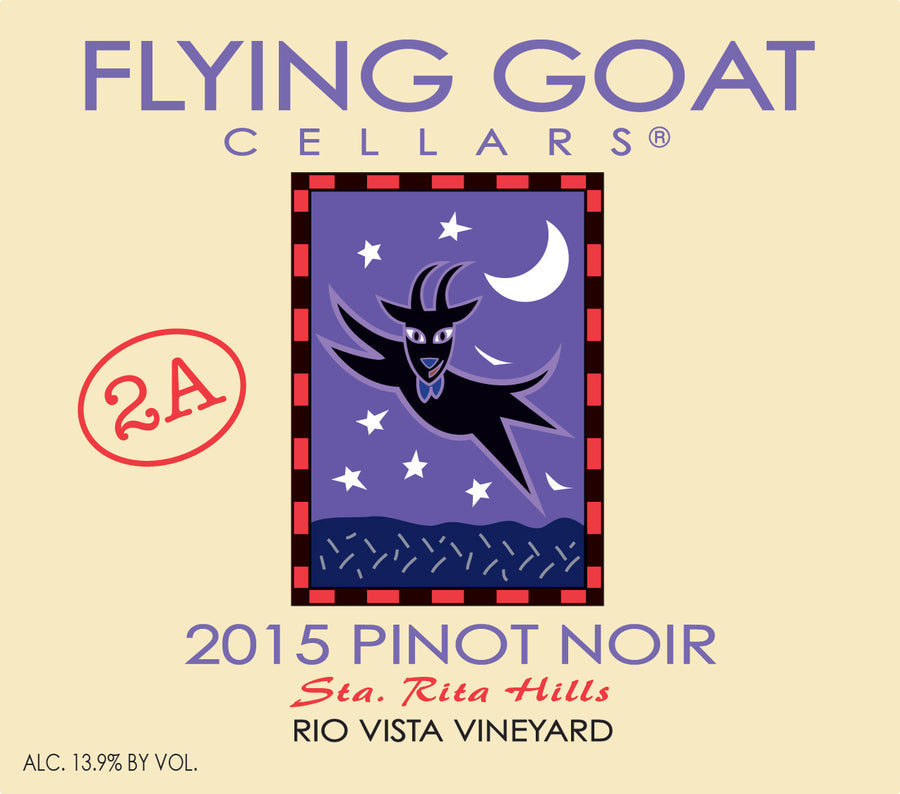 2015 Pinot Noir, Rio Vista Vineyard Clone 2A Label Image