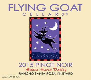 2015 Pinot Noir, Rancho Santa Rosa Vineyard Label Image
