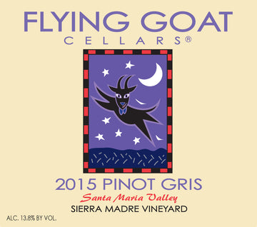 2015 Pinot Gris, Sierra Madre Vineyard Label Image