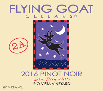 2016 Pinot Noir, Rio Vista Vineyard Clone 2A Label Image