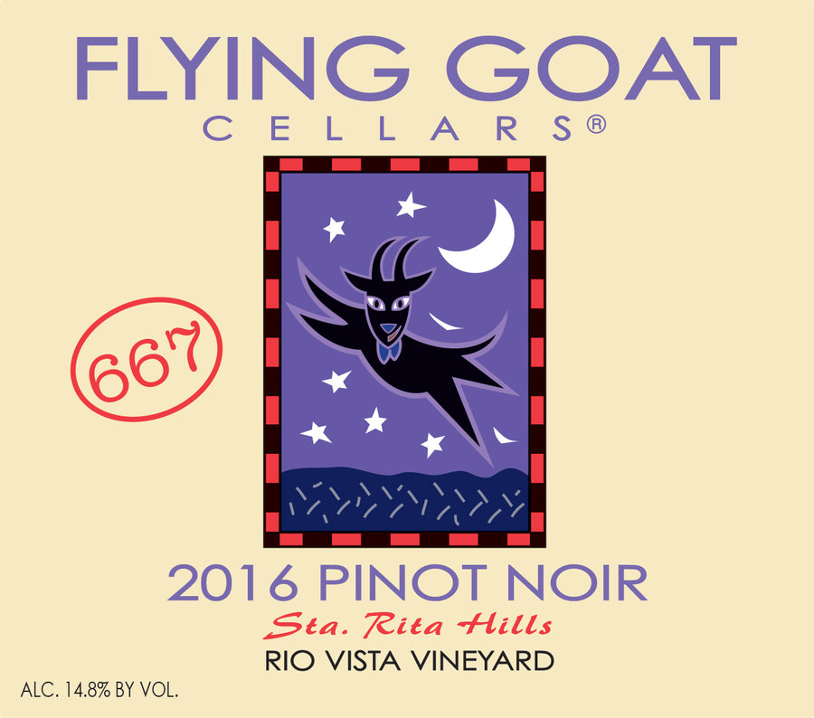 2016 Pinot Noir, Rio Vista Vineyard Clone 667 Label Image