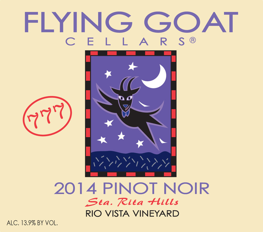 2014 Pinot Noir, Rio Vista Vineyard Clone 777 Label Image