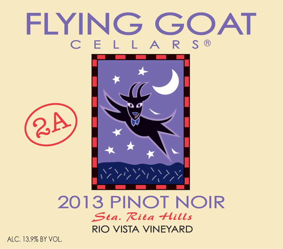 2013 Pinot Noir, Rio Vista Vineyard Clone 2A Label Image