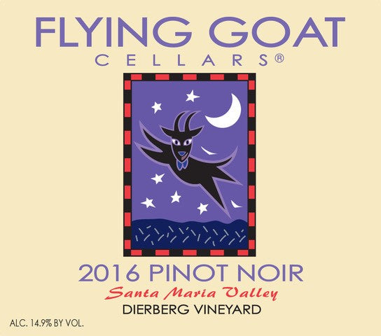 2016 Pinot Noir, Dierberg Vineyard Label Image