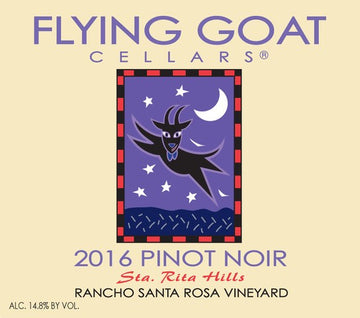 2016 Pinot Noir, Rancho Santa Rosa Vineyard Label Image