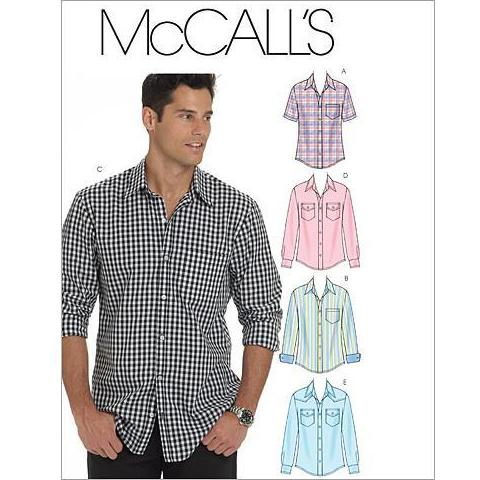 McCalls 6044 / Mens Button Up Shirts