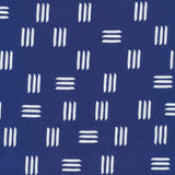 Dashes Canvas in Indigo Blue