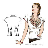 1940s Girl Friday Blouse