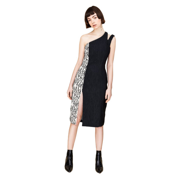902 / Asymmetric Sheath Dress