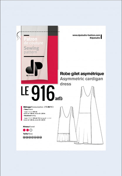 916 / Asymmetric Dress + Top