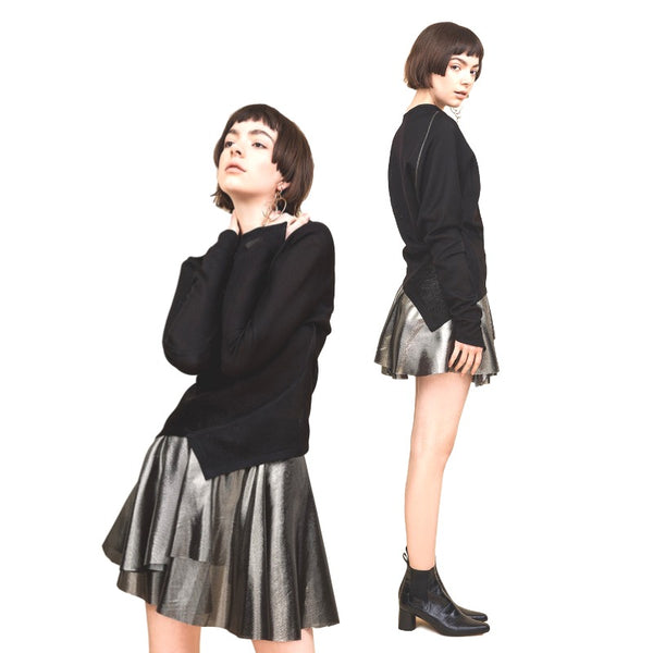 002 / Knit Asymmetric Sweater