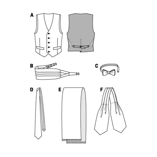 3403 Mens Vest + Ties + Accessories