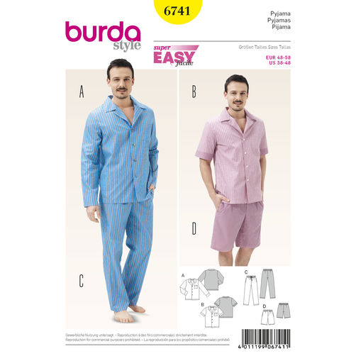 6741 Mens PJs + Loungewear