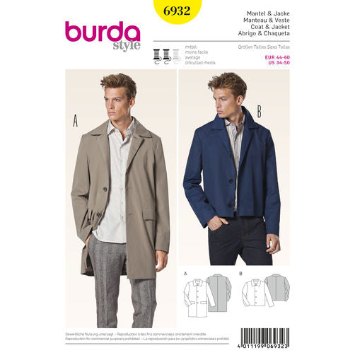 6932 Mens Sportswear Coat + Jacket