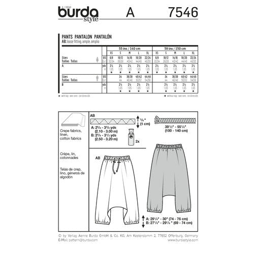 7546 Mens + Womens Harem Pants