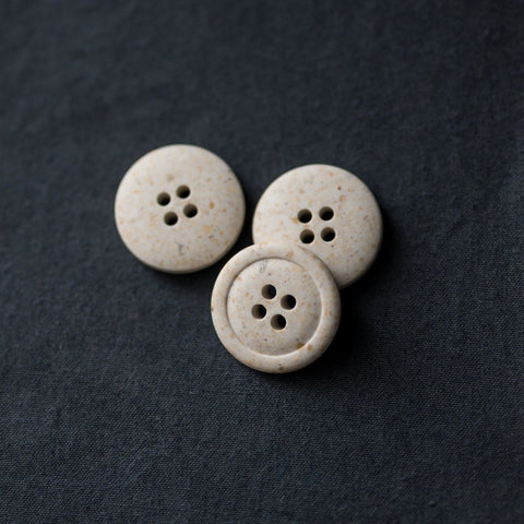 Recycled Resin Buttons / 20mm / Bianco