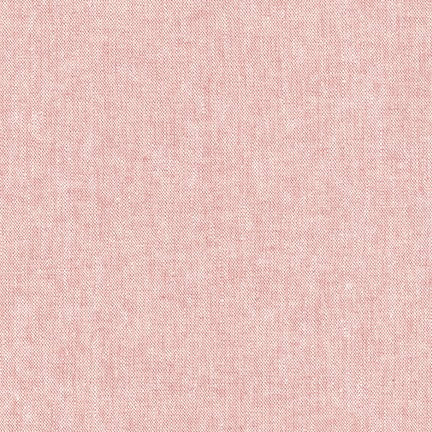 Yarn Dyed Linen Cotton Crossweave / Strawberry Ice Cream