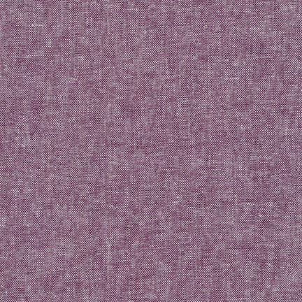 Yarn Dyed Linen Cotton Crossweave / Eggplant