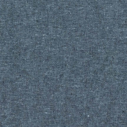 Yarn Dyed Linen Cotton Crossweave / Indigo
